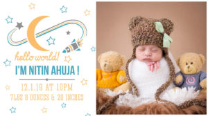 Product - Birth Announcement - Birth Photography - Shipra Amit
